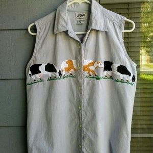 Country Cow sleeveless shirt